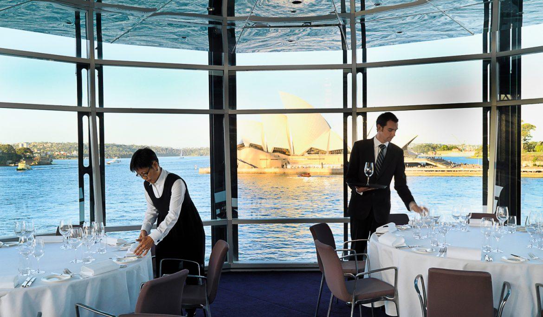 Quay Restaurant  Where you should eat, Sydney's Top Restaurants  Quay restaurant with waiters HDR2megan
