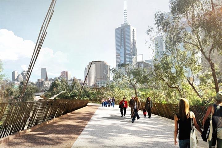 New Melbourne bridge from Wardle
